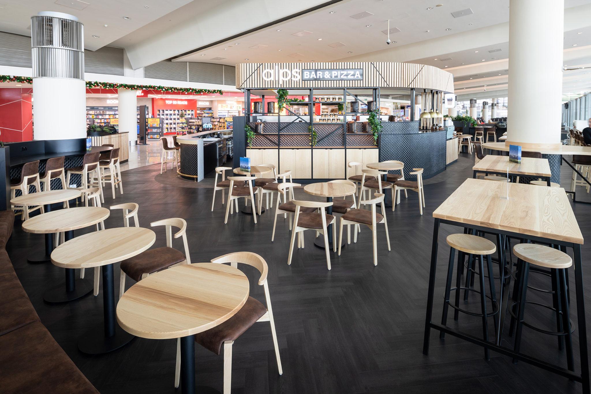 bespoke bar for Alps Bar & Pizza