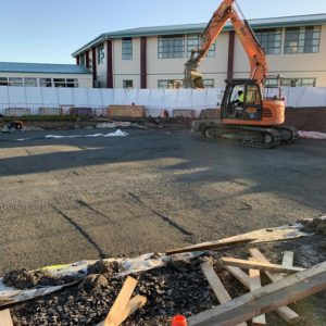 Pakuranga College classroom block construction
